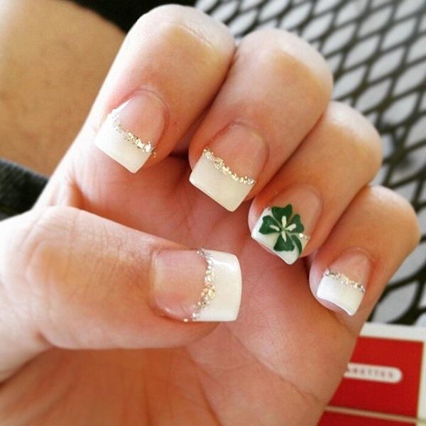 Four Leaf Clover Nail Art 15