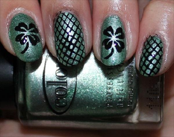 Four Leaf Clover Nail Art 16