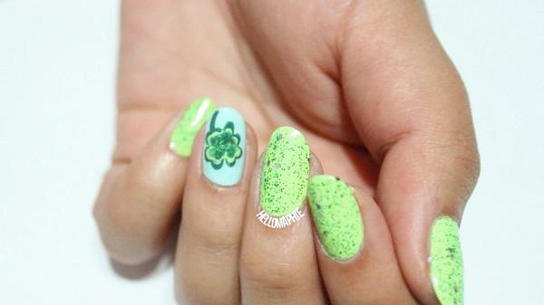 Four Leaf Clover Nail Art 17