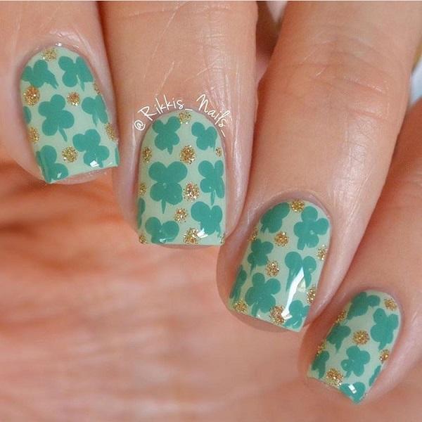 Four Leaf Clover Nail Art 18