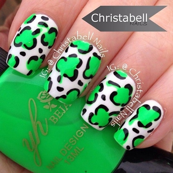Four Leaf Clover Nail Art 22