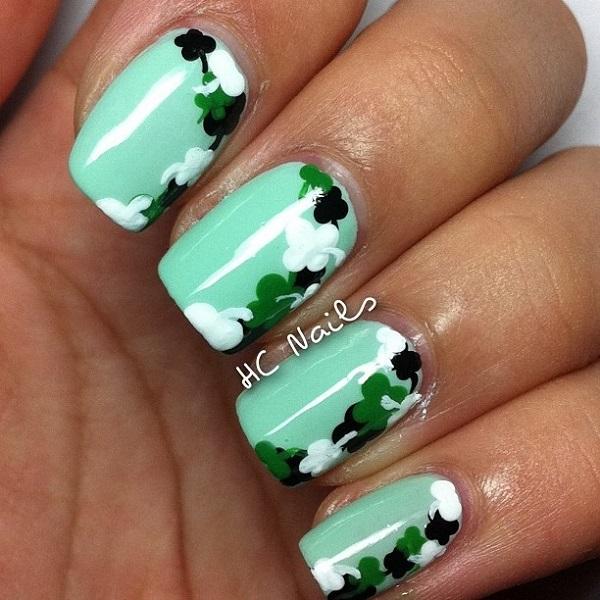 Four Leaf Clover Nail Art 25