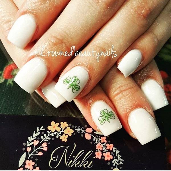 Four Leaf Clover Nail Art 26