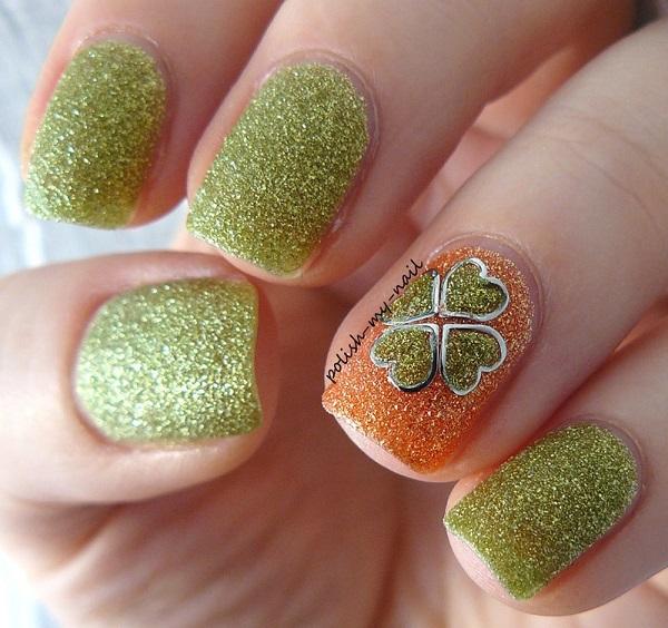 Four Leaf Clover Nail Art 27