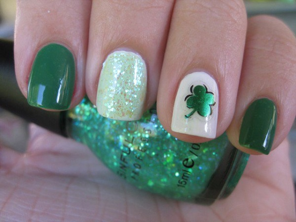 Four Leaf Clover Nail Art 28