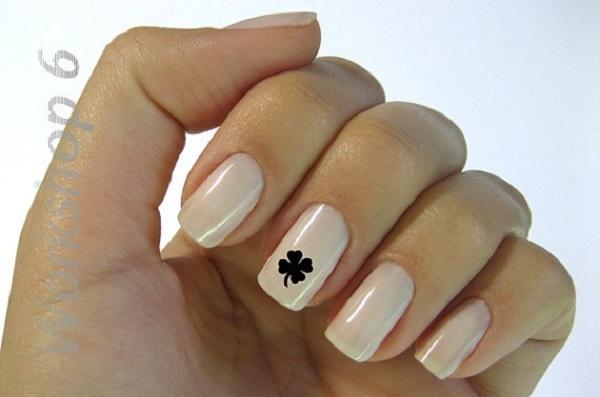 Four Leaf Clover Nail Art 29