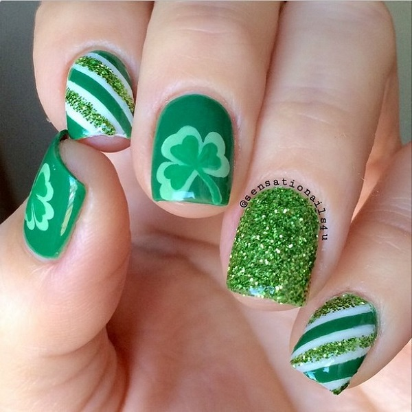 Four Leaf Clover Nail Art 3