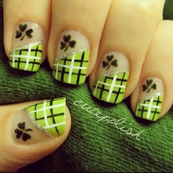 Four Leaf Clover Nail Art 30