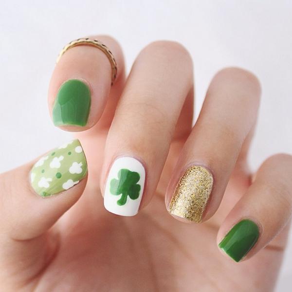 Four Leaf Clover Nail Art 4