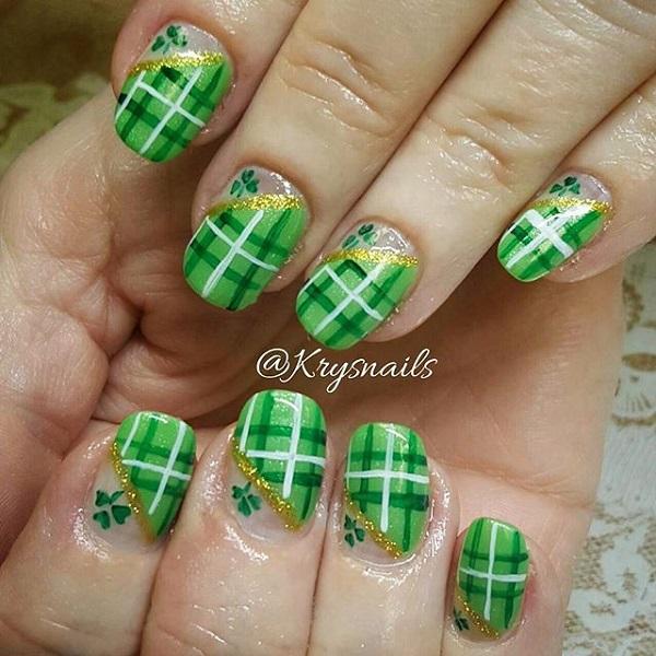 Four Leaf Clover Nail Art 7