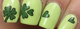 30 Four-Leaf Clover Nail Art Ideas