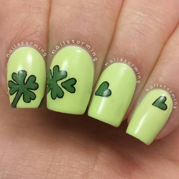 Four Leaf Clover Nail Art 9