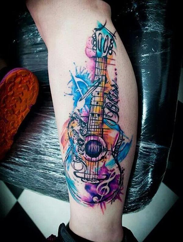 60 inspirational guitar tattoos nenuno creative. Black Bedroom Furniture Sets. Home Design Ideas