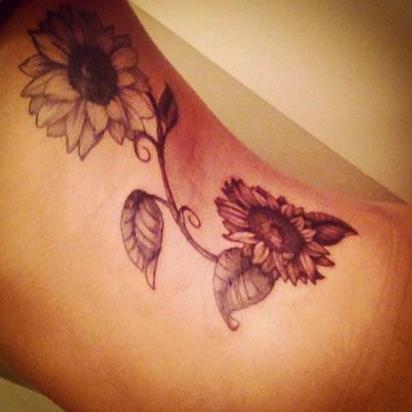 60 sunflower tattoo ideas nenuno creative. Black Bedroom Furniture Sets. Home Design Ideas