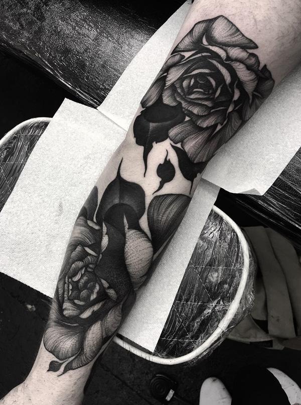 flower sleeve tattoo-35