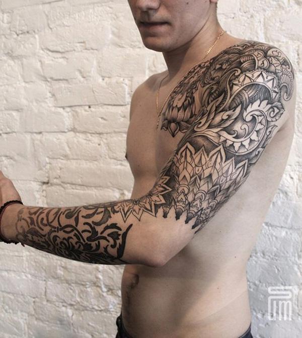 mandala sleeve tattoo-34