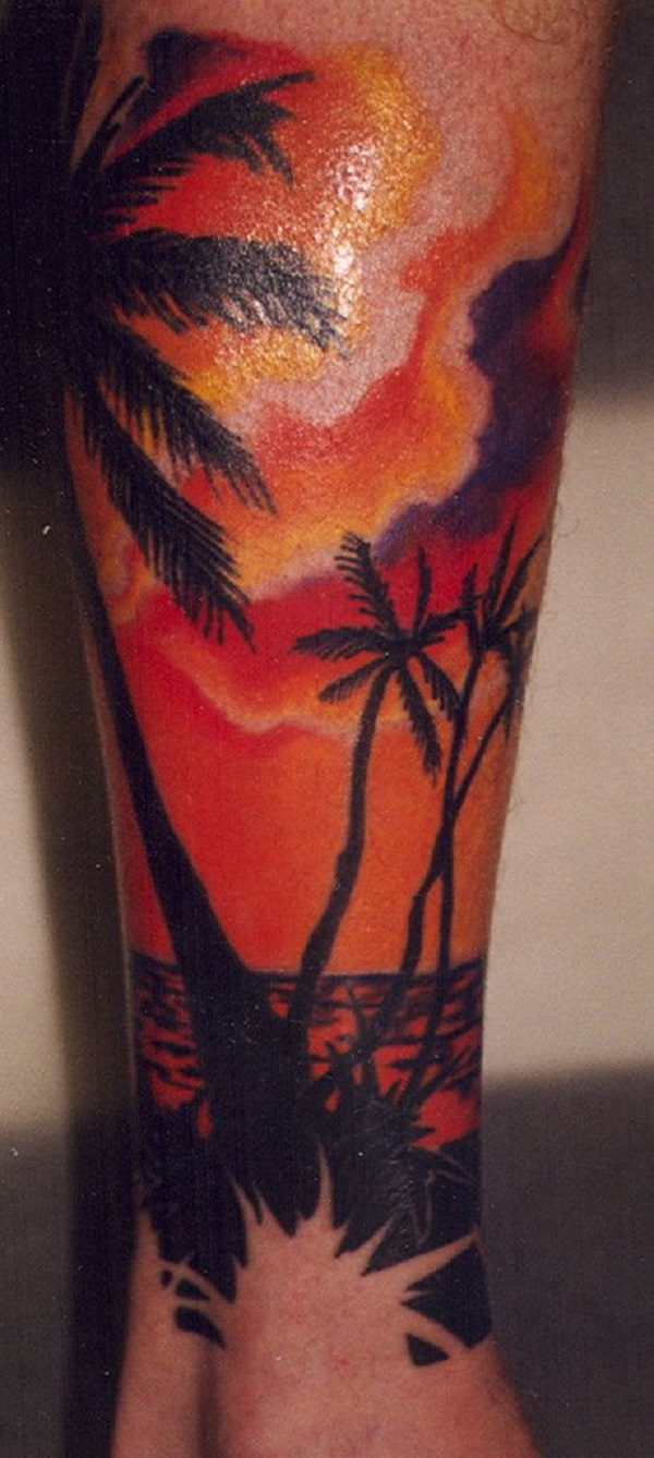 60 awesome beach tattoos nenuno creative for Beach sunset tattoos