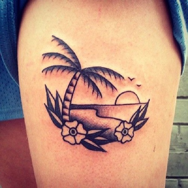 60 awesome beach tattoos nenuno creative. Black Bedroom Furniture Sets. Home Design Ideas