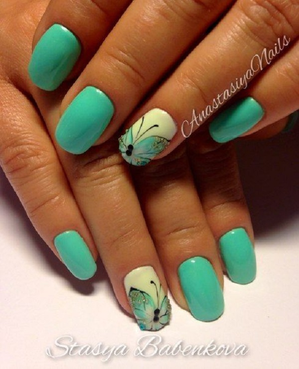 Butterfly Nail Art 6