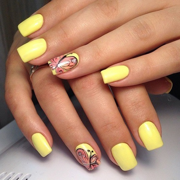95 Nail Art At Home Toothpick Drag Marble Nail Art With Flower