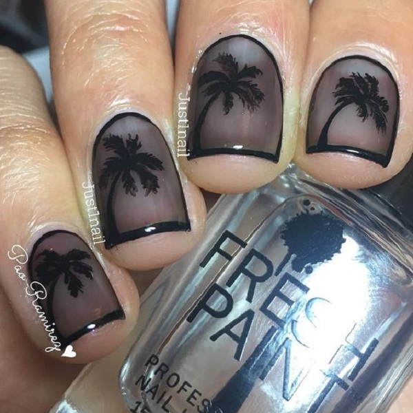 Palm Tree Nail Art 12