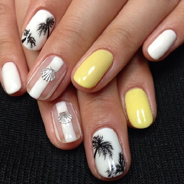 Palm Tree Nail Art 13
