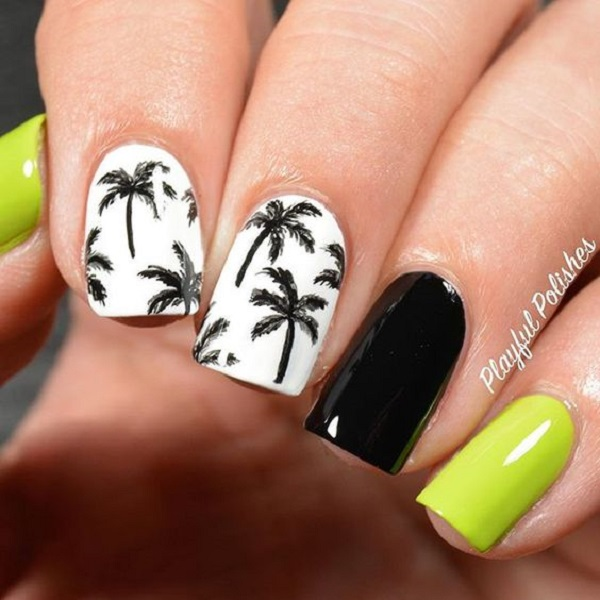 Palm Tree Nail Art 15