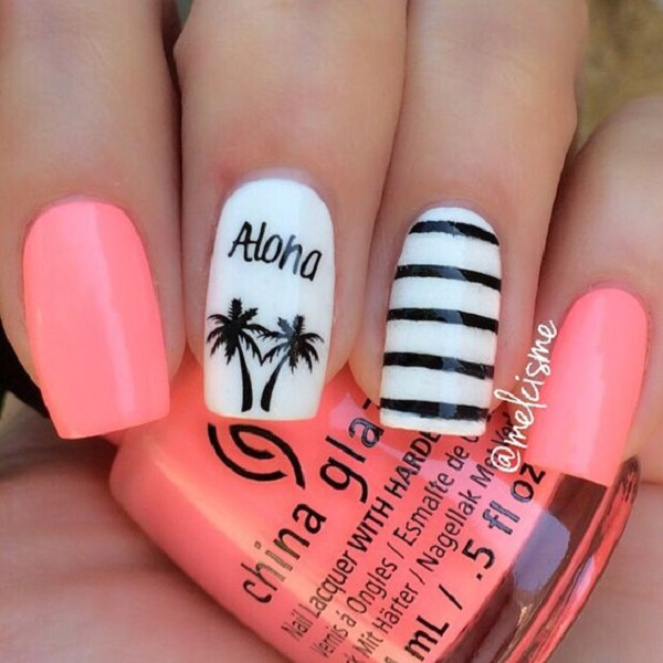Palm Tree Nail Art 16