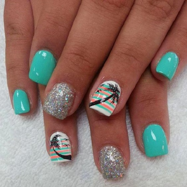 Palm Tree Nail Art 17