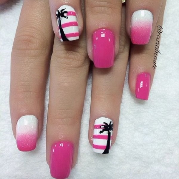 Palm Tree Nail Art 18