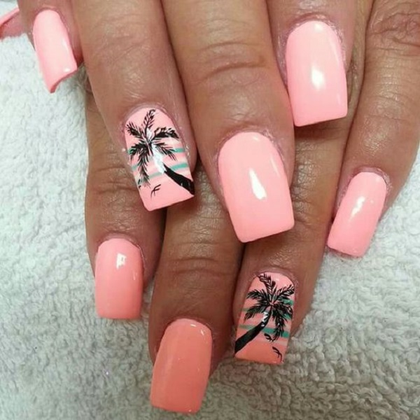 Palm Tree Nail Art 19