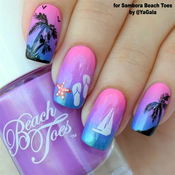 Palm Tree Nail Art 20