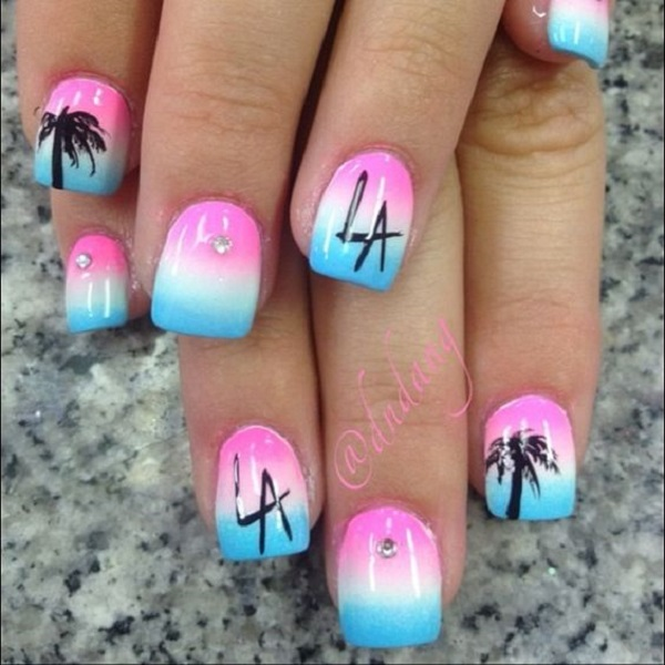 Palm Tree Nail Art 21