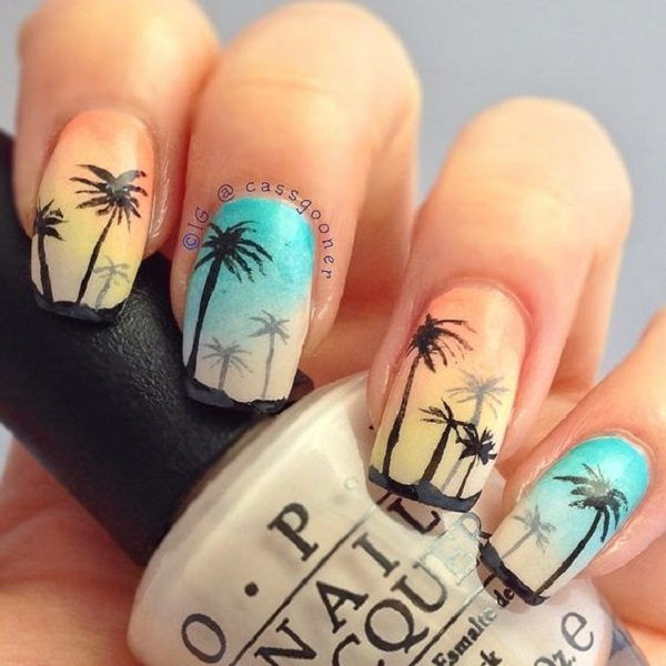 Palm Tree Nail Art 22