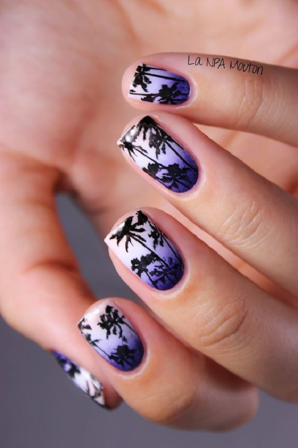 Palm Tree Nail Art 23