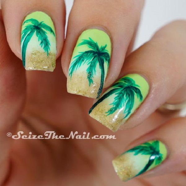 Palm Tree Nail Art 25