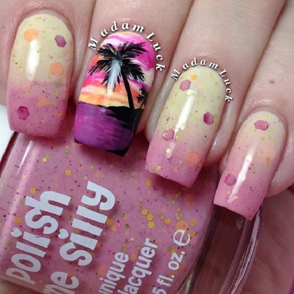 Palm Tree Nail Art 26