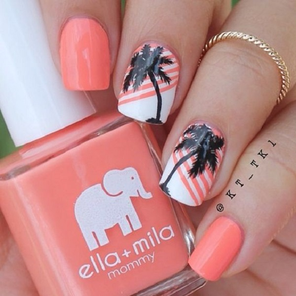 Palm Tree Nail Art 29