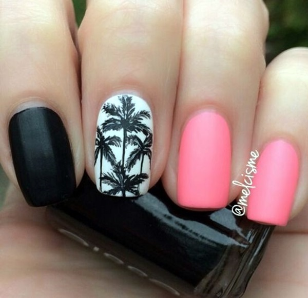 Palm Tree Nail Art 3