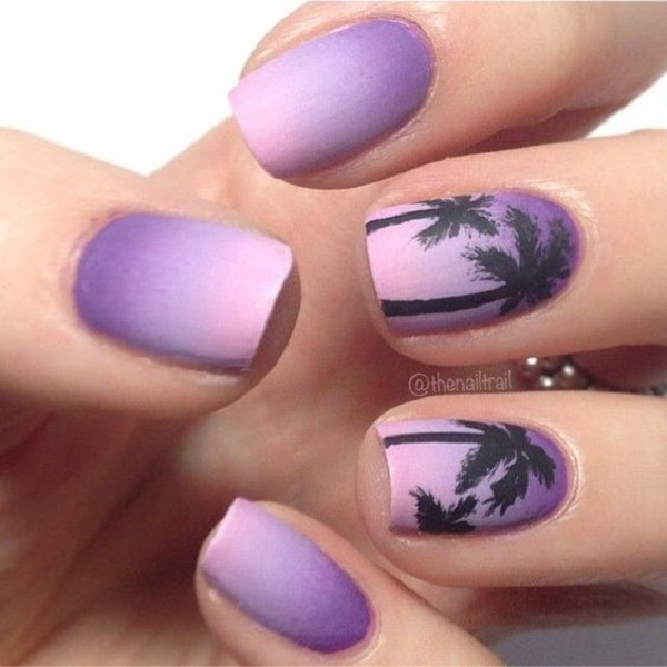 Palm Tree Nail Art 30