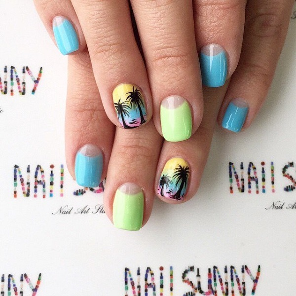 Palm Tree Nail Art 31