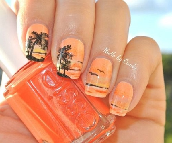 Palm Tree Nail Art 33
