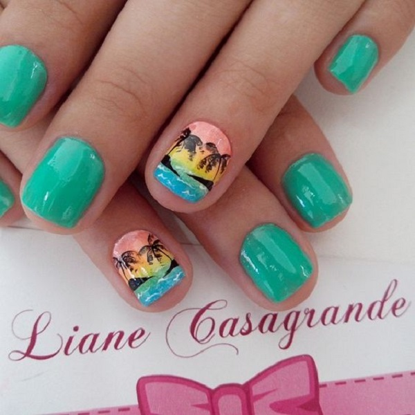 Palm Tree Nail Art 35