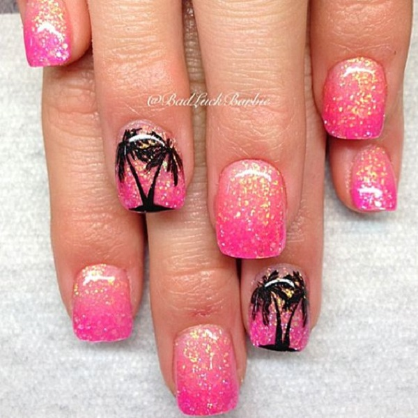 Palm Tree Nail Art 36