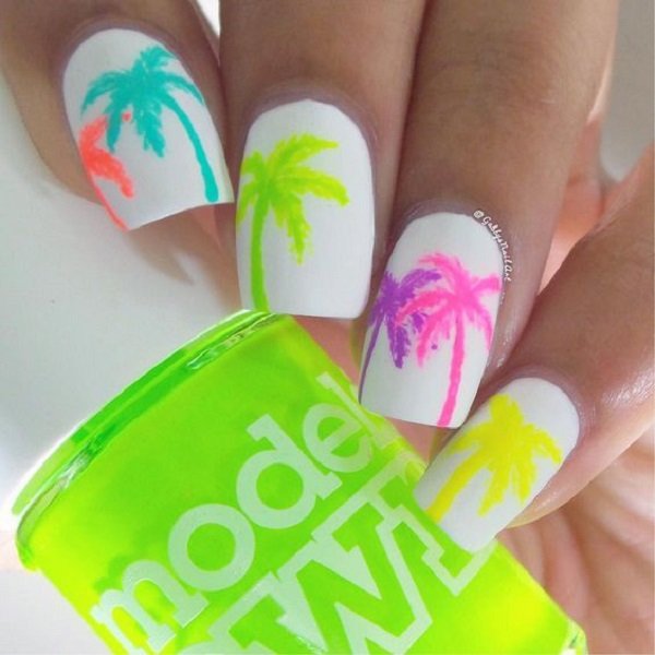 Palm Tree Nail Art 37