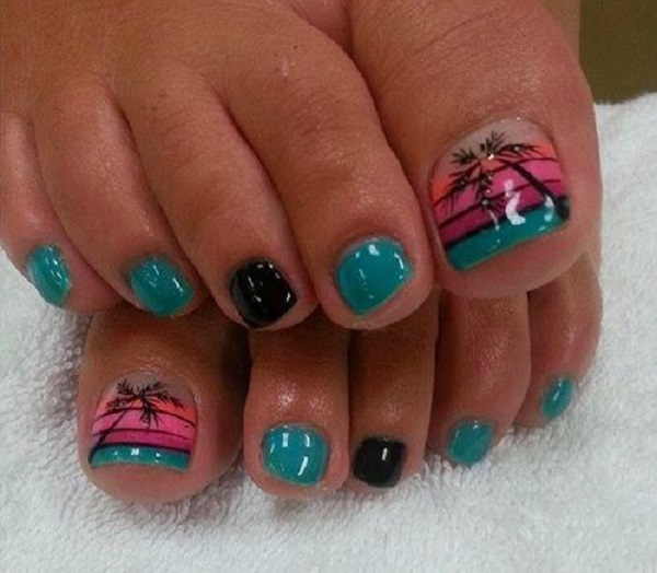 Palm Tree Nail Art 38