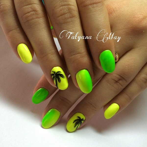 Palm Tree Nail Art 4