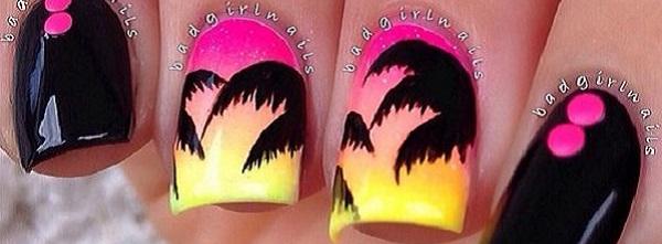 Palm Tree Nail Art 40 222