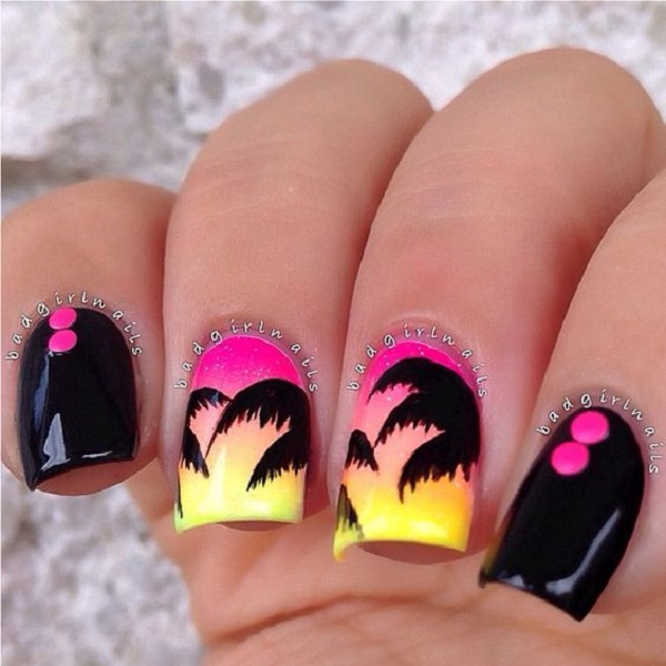 Palm Tree Nail Art 40
