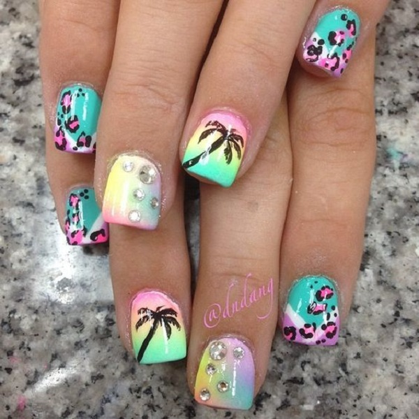 Palm Tree Nail Art 6
